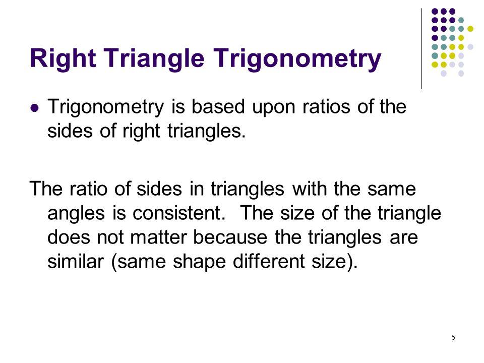 Right Triangle Trigonometry
