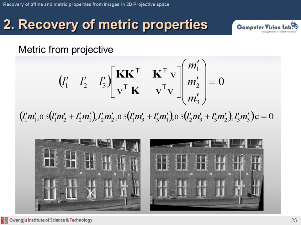 2. Recovery of metric properties