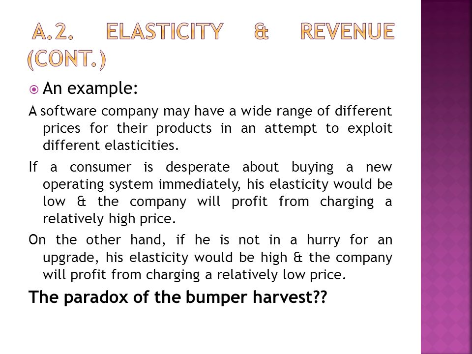 A.2. Elasticity & revenue (cont.)