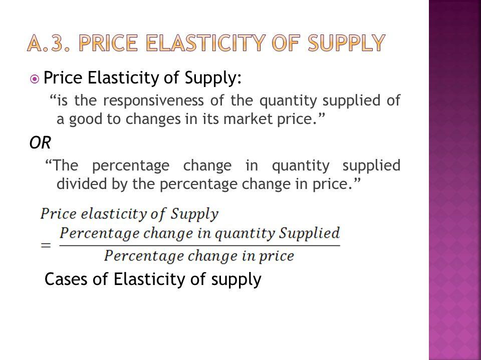 a.3. price elasticity of supply