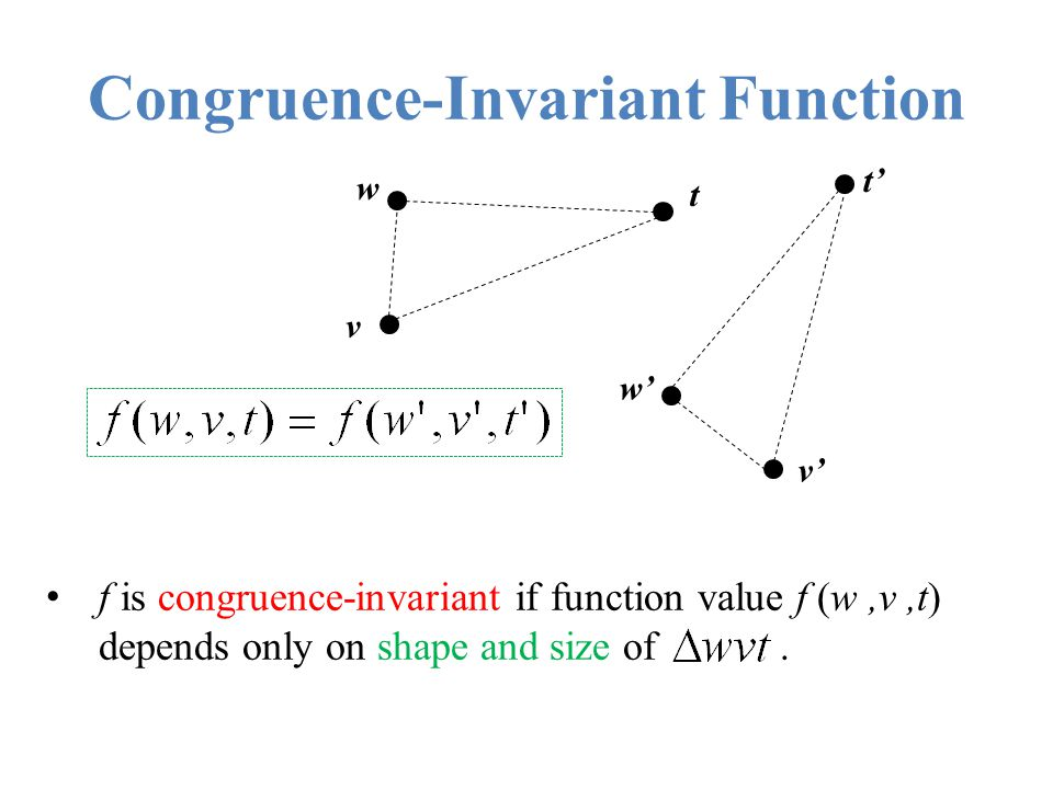 Congruence-Invariant Function