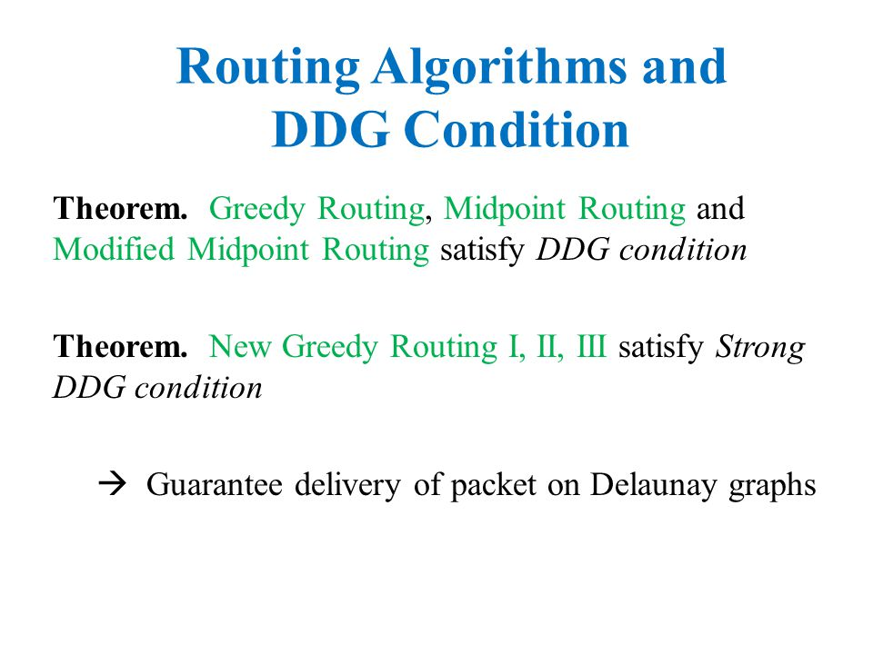 Routing Algorithms and