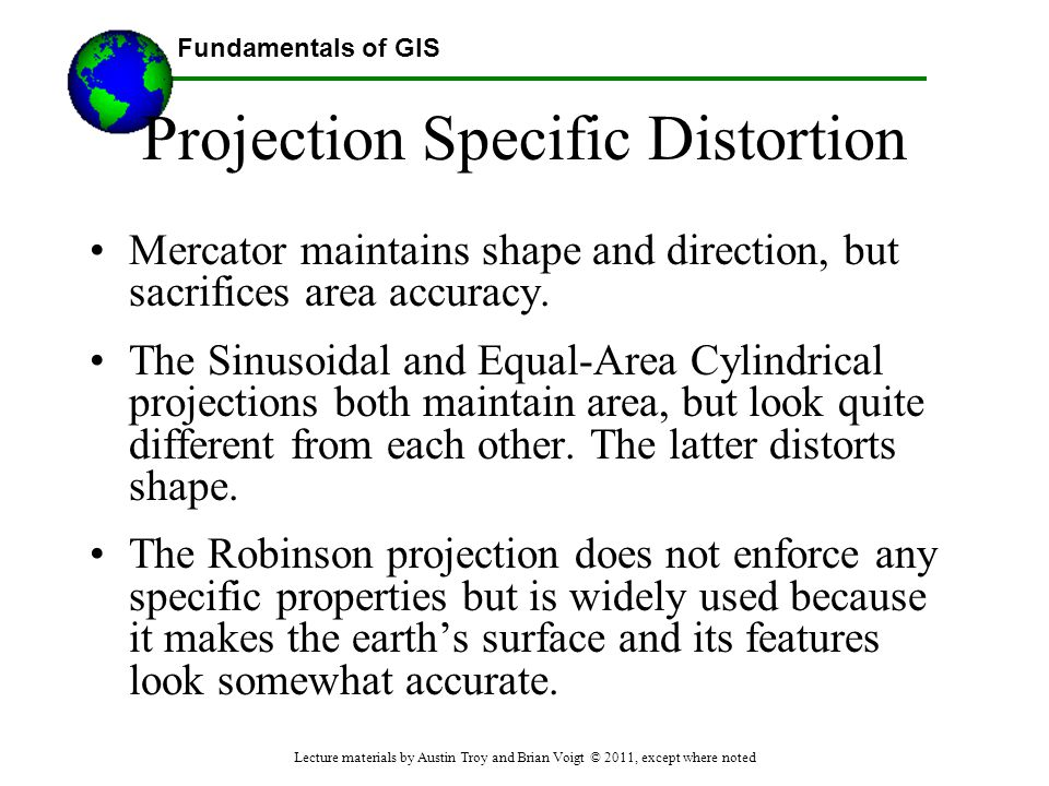 Projection Specific Distortion