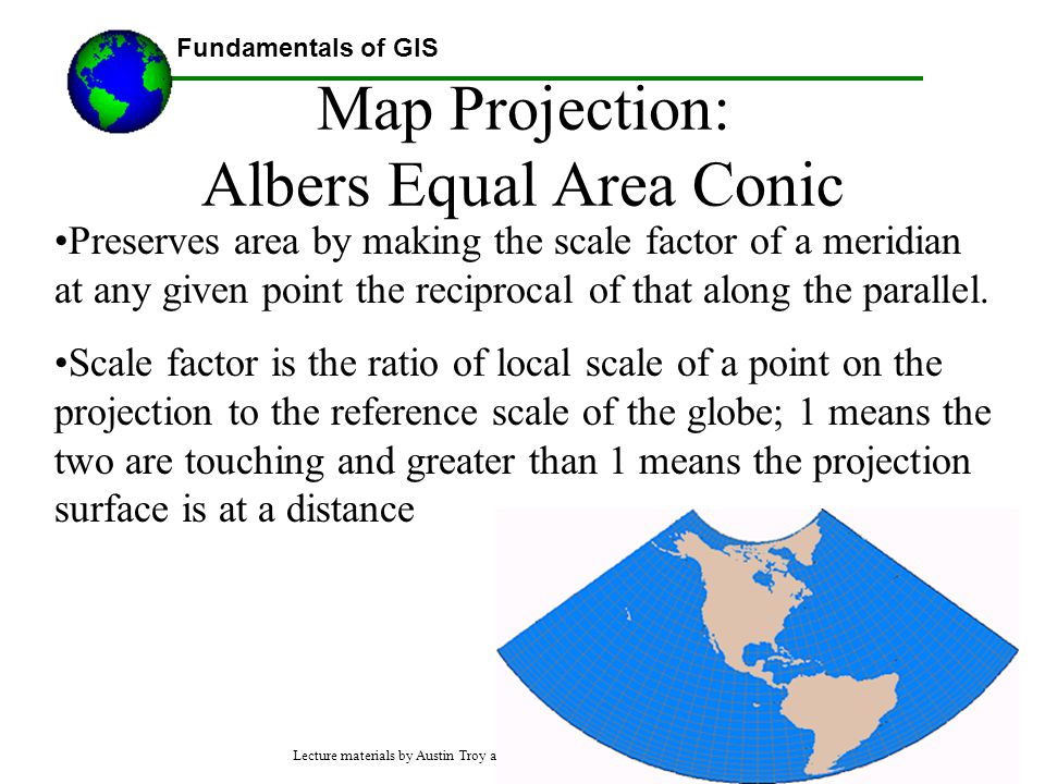Map Projection: Albers Equal Area Conic