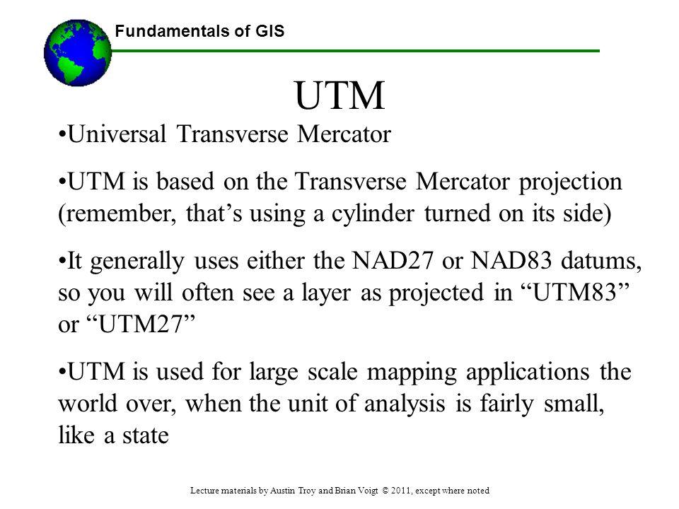 UTM Universal Transverse Mercator
