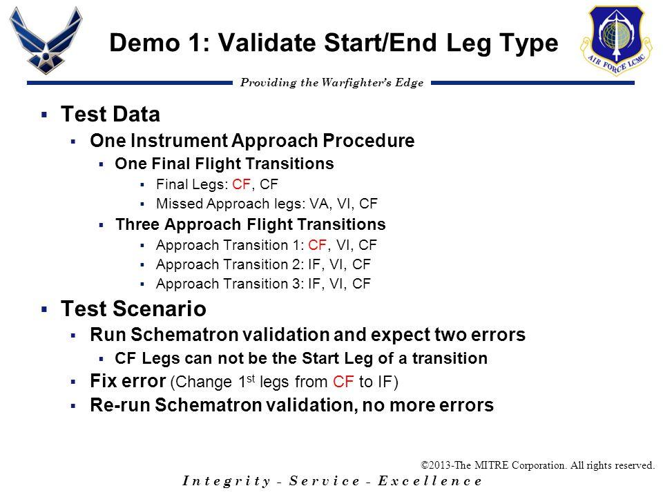Demo 1: Validate Start/End Leg Type