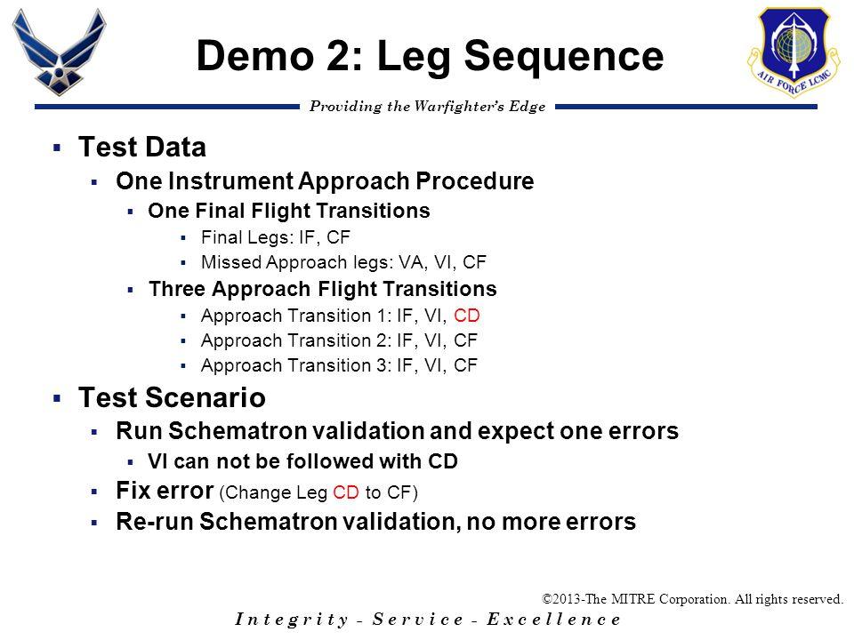 Demo 2: Leg Sequence Test Data Test Scenario