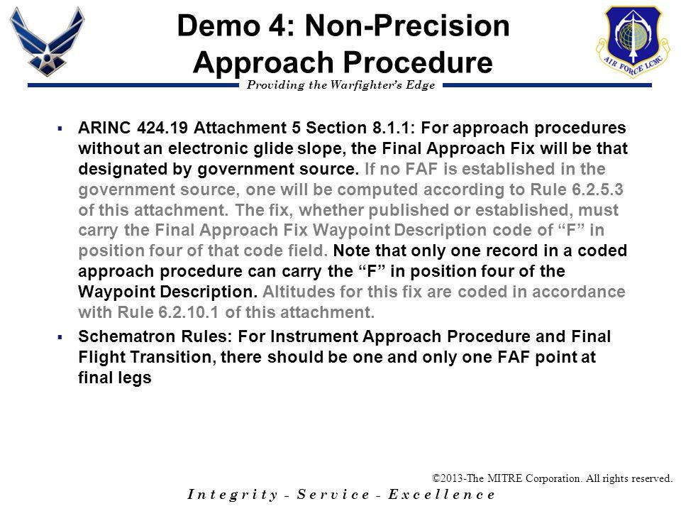 Demo 4: Non-Precision Approach Procedure