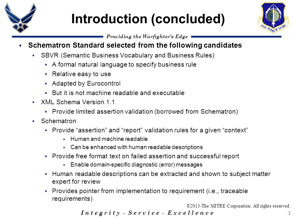Introduction (concluded)