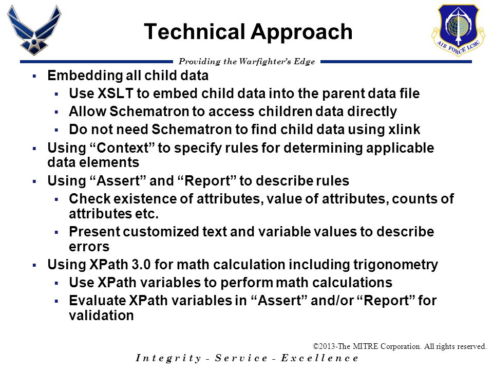 Technical Approach Embedding all child data