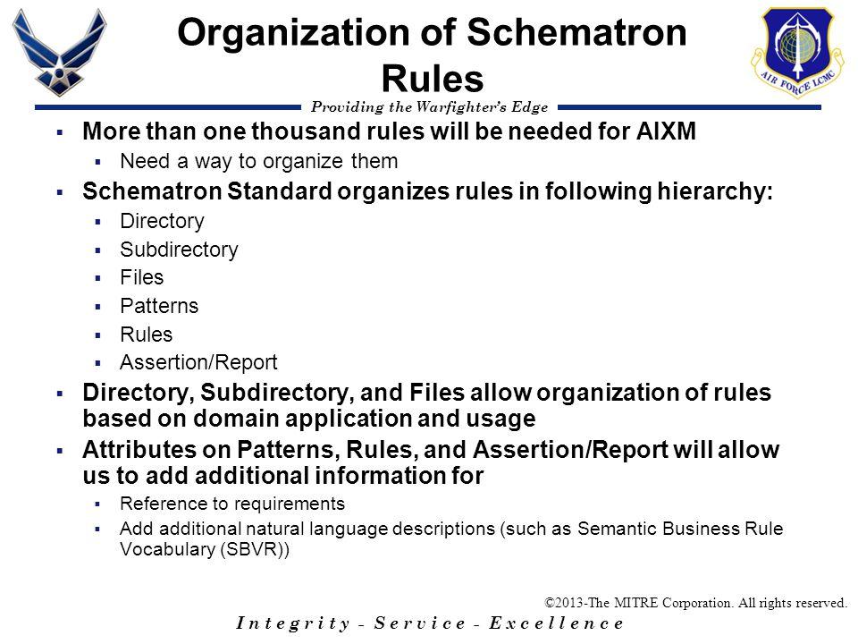 Organization of Schematron Rules
