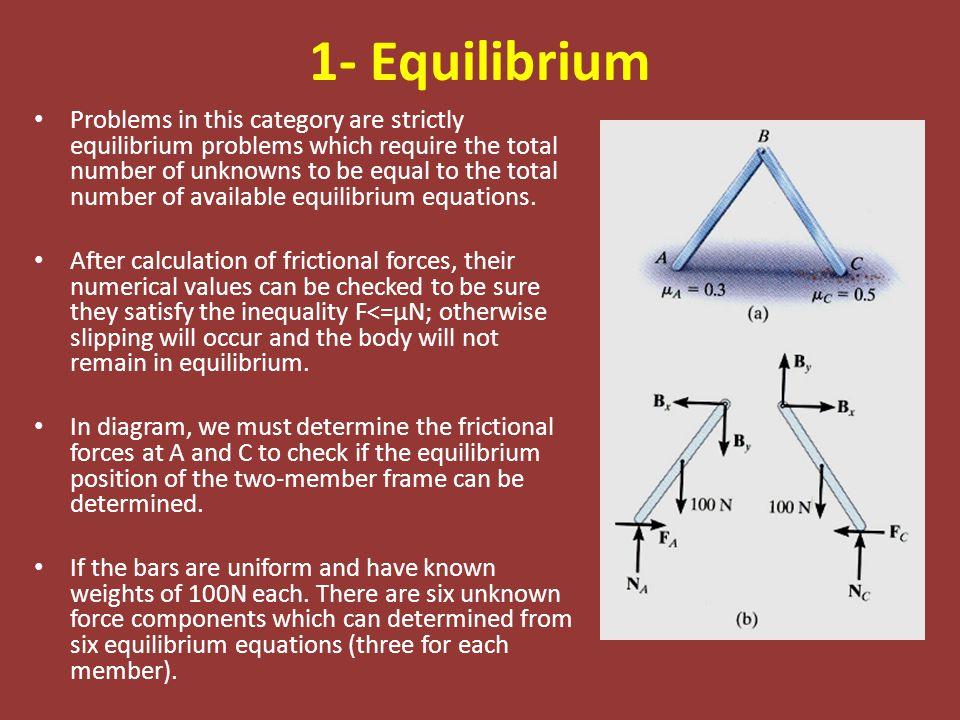 1- Equilibrium