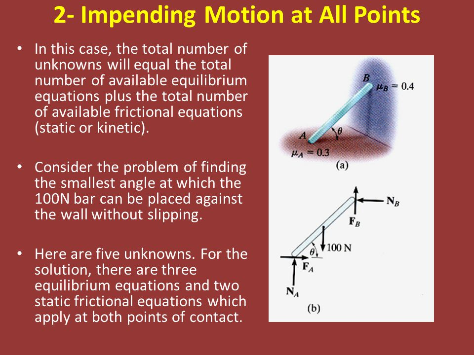 2- Impending Motion at All Points