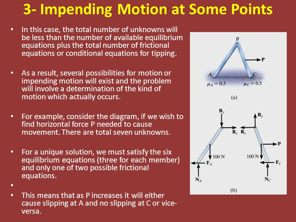3- Impending Motion at Some Points