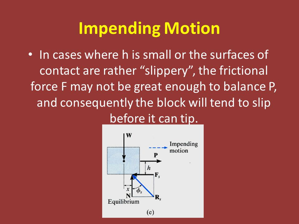 Impending Motion