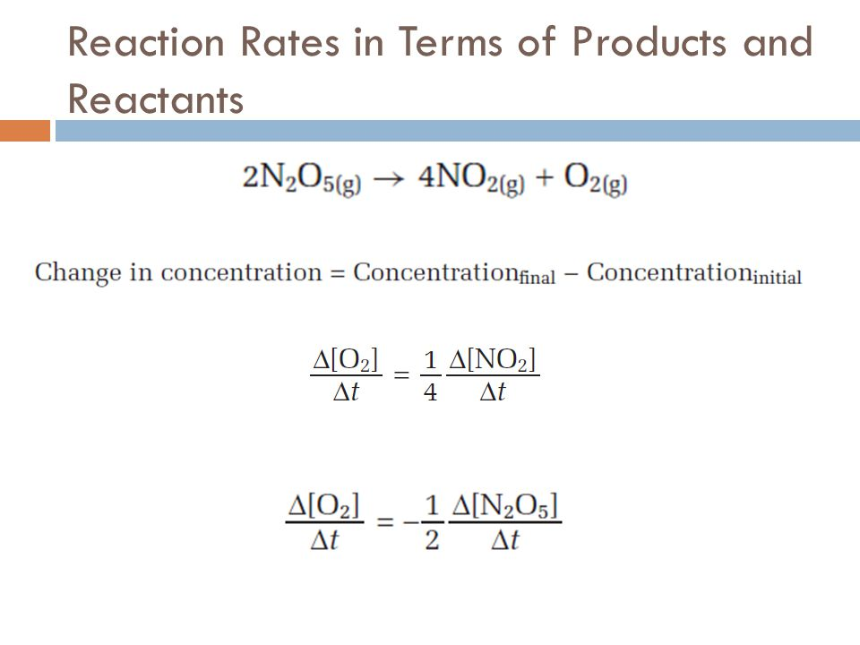 Reaction Rates in Terms of Products and Reactants