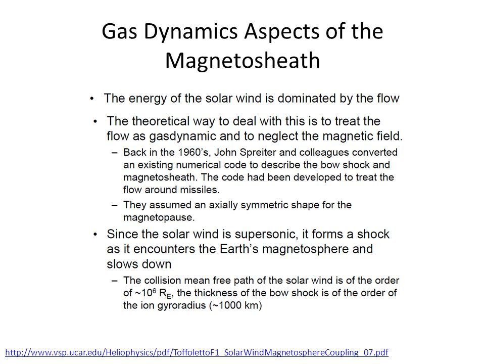 Gas Dynamics Aspects of the Magnetosheath