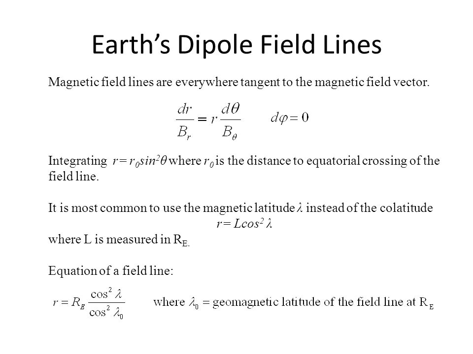 Earth's Dipole Field Lines
