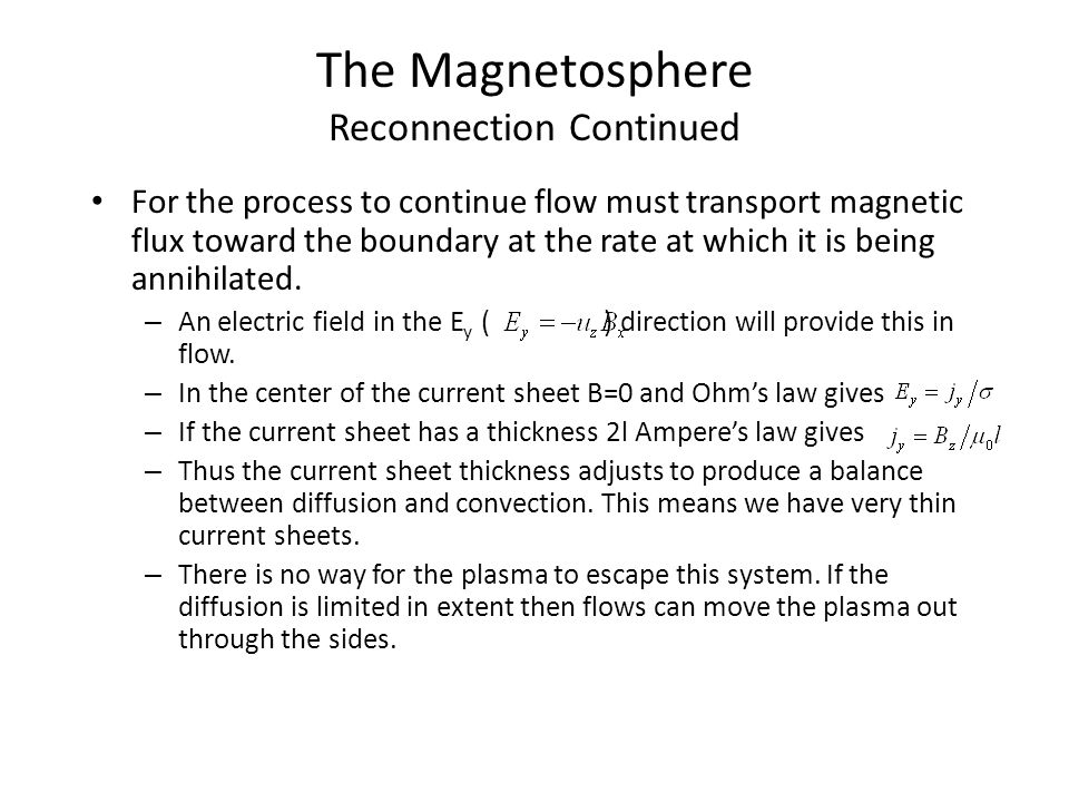 The Magnetosphere Reconnection Continued