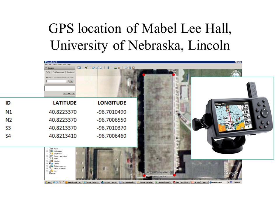 GPS location of Mabel Lee Hall, University of Nebraska, Lincoln