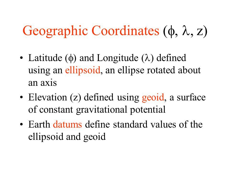 Geographic Coordinates (f, l, z)