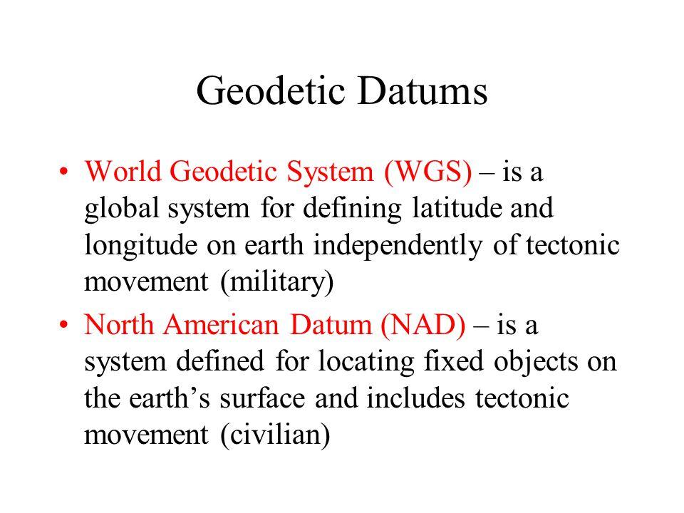 Geodetic Datums