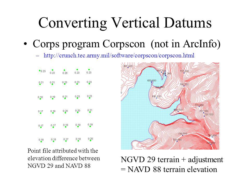Converting Vertical Datums