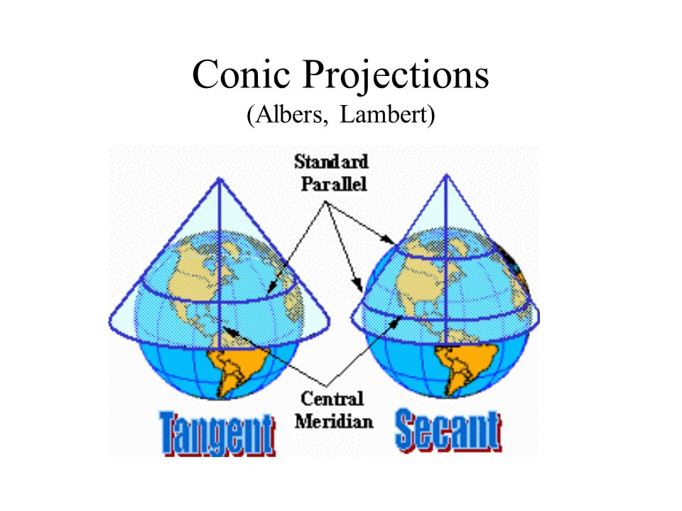 Conic Projections (Albers, Lambert)