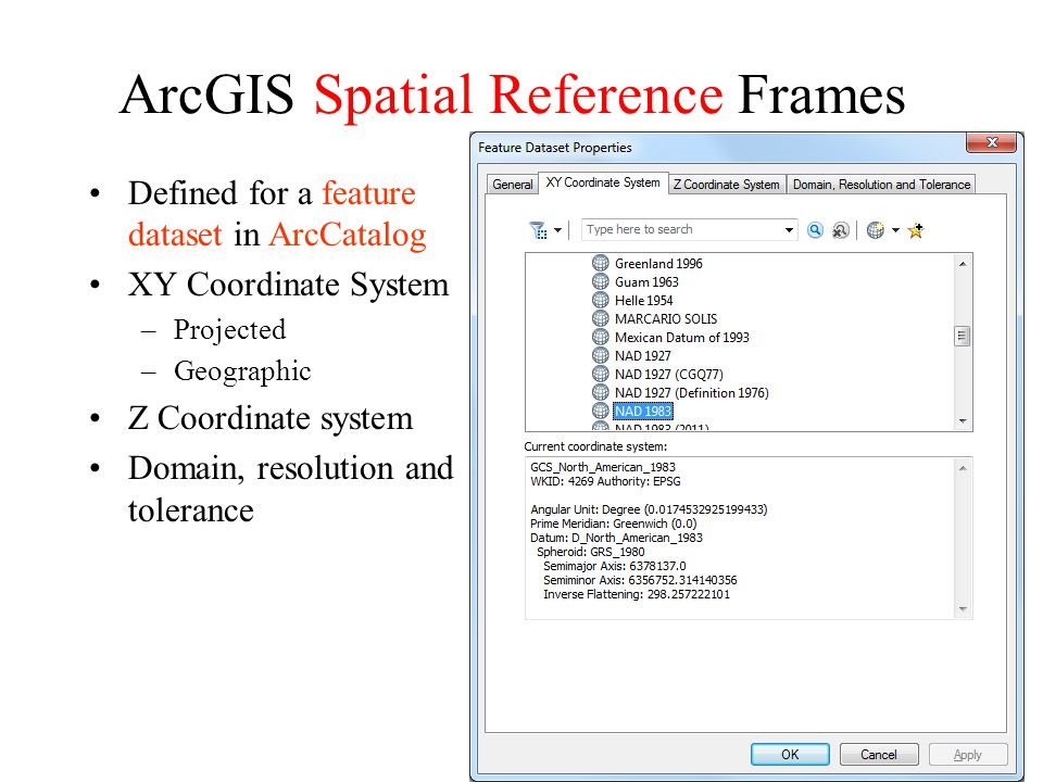 ArcGIS Spatial Reference Frames