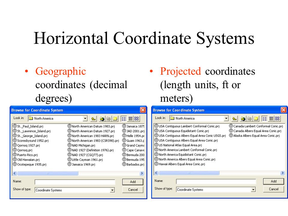 Horizontal Coordinate Systems