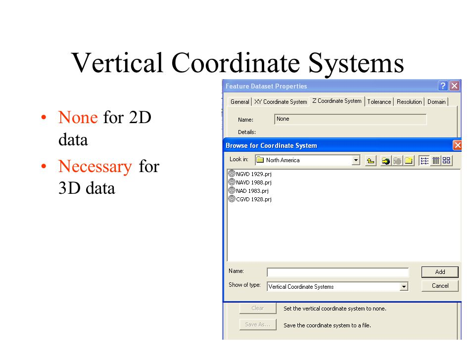 Vertical Coordinate Systems
