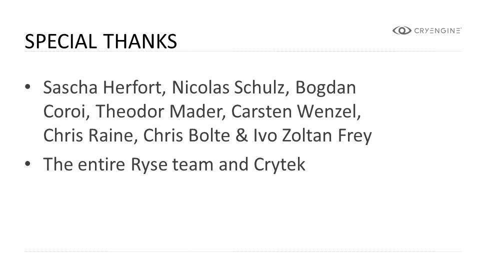 Special Thanks Sascha Herfort, Nicolas Schulz, Bogdan Coroi, Theodor Mader, Carsten Wenzel, Chris Raine, Chris Bolte & Ivo Zoltan Frey.