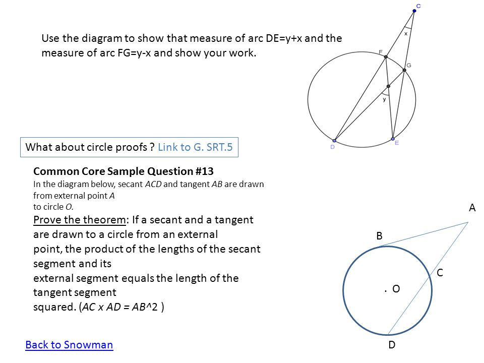 What about circle proofs Link to G. SRT.5