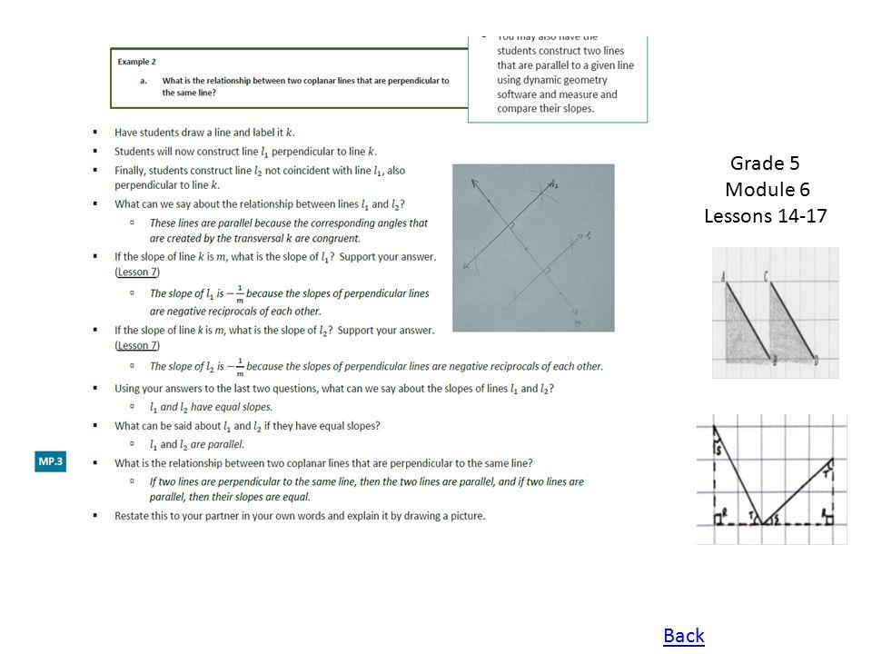 Grade 5 Module 6 Lessons 14-17 Back