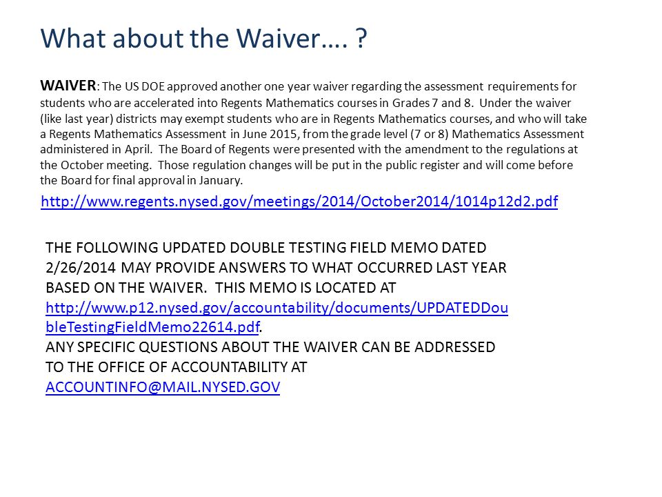 What about the Waiver….