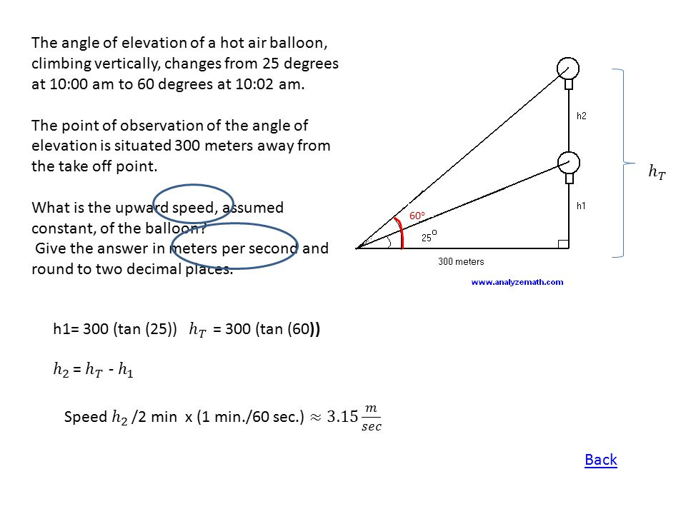 What is the upward speed, assumed constant, of the balloon