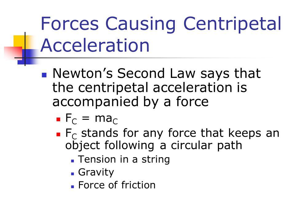 Forces Causing Centripetal Acceleration