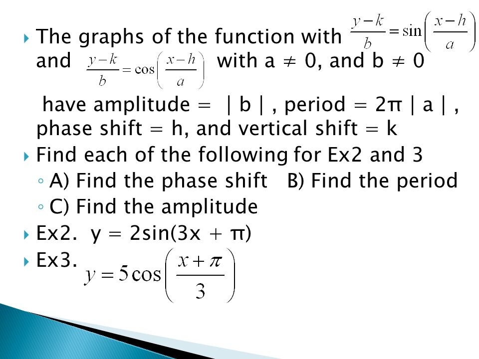 The graphs of the function with and with a ≠ 0, and b ≠ 0