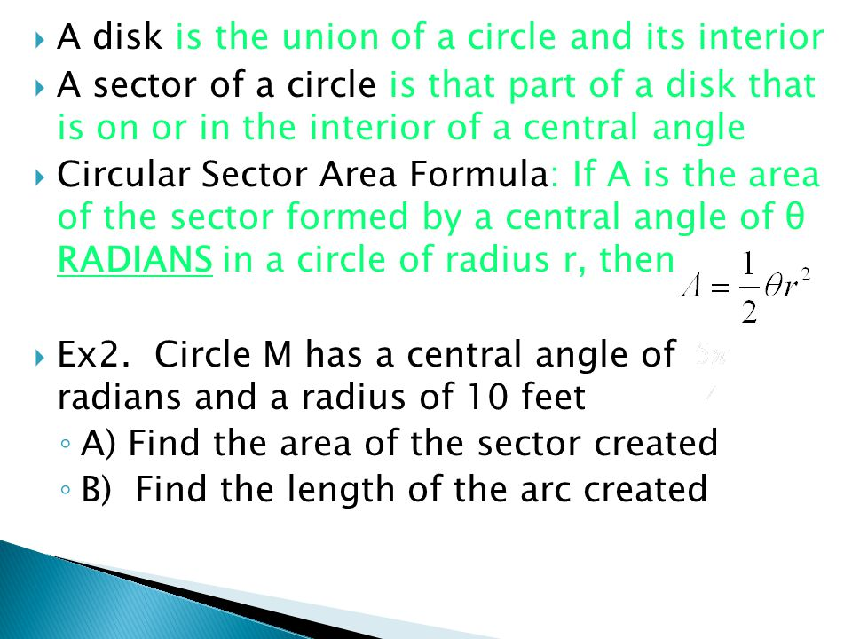 A disk is the union of a circle and its interior