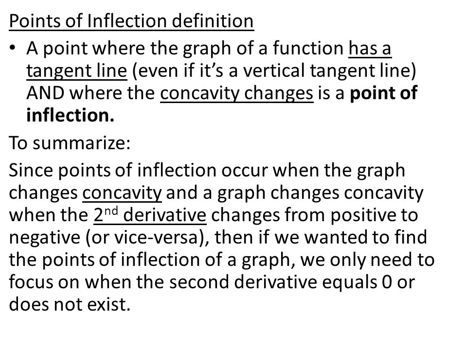 Points of Inflection definition