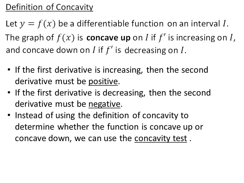 If the first derivative is increasing, then the second derivative must be positive.