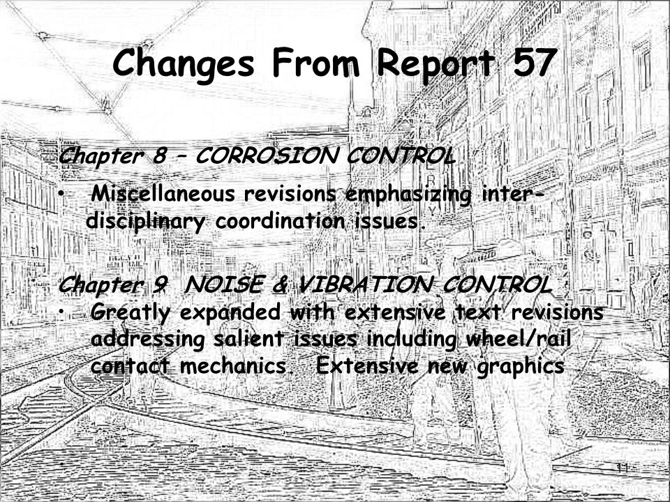 Changes From Report 57 Chapter 8 – CORROSION CONTROL