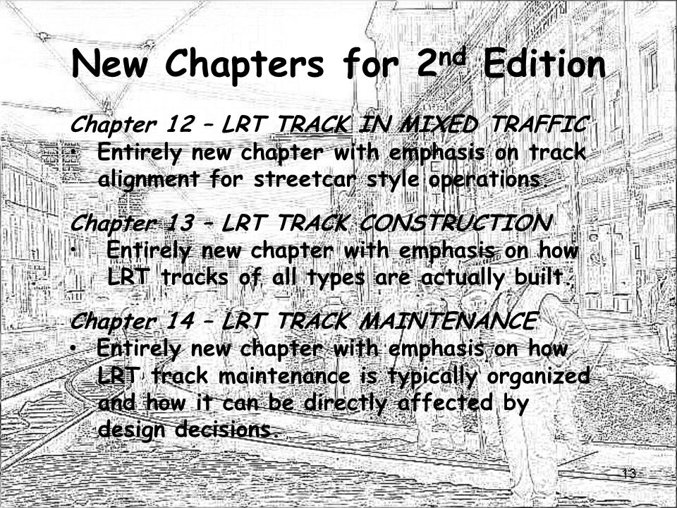 New Chapters for 2nd Edition