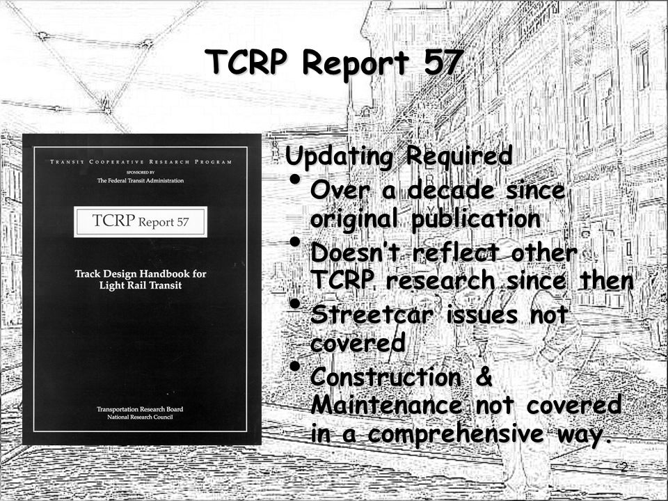 TCRP Report 57 Updating Required