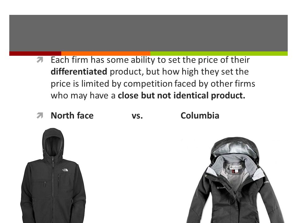 Each firm has some ability to set the price of their differentiated product, but how high they set the price is limited by competition faced by other firms who may have a close but not identical product.