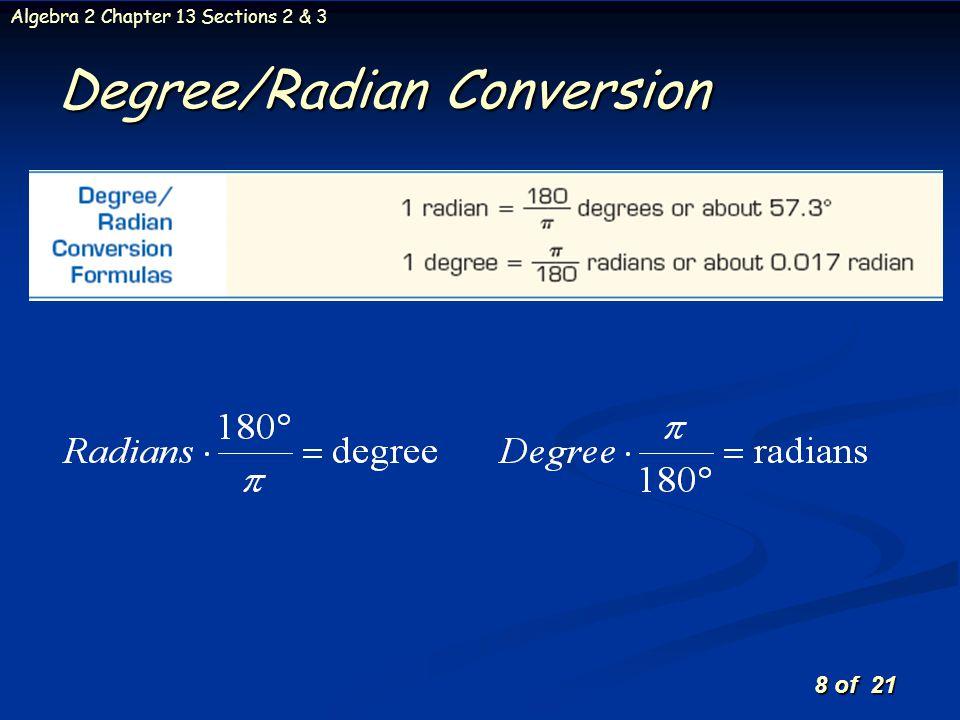 Degree/Radian Conversion