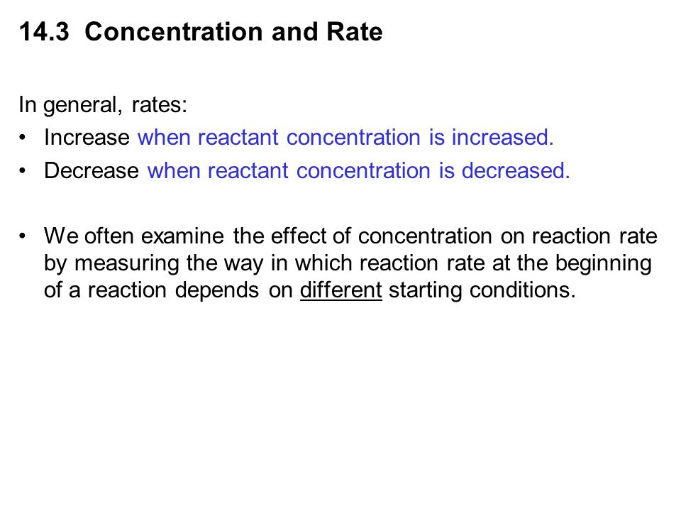 14.3 Concentration and Rate