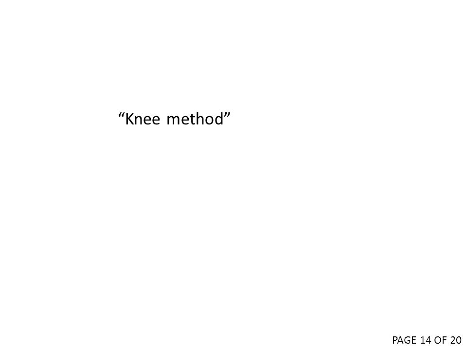 Knee method PAGE 14 OF 20