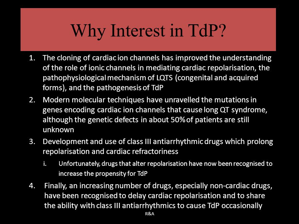 Why Interest in TdP
