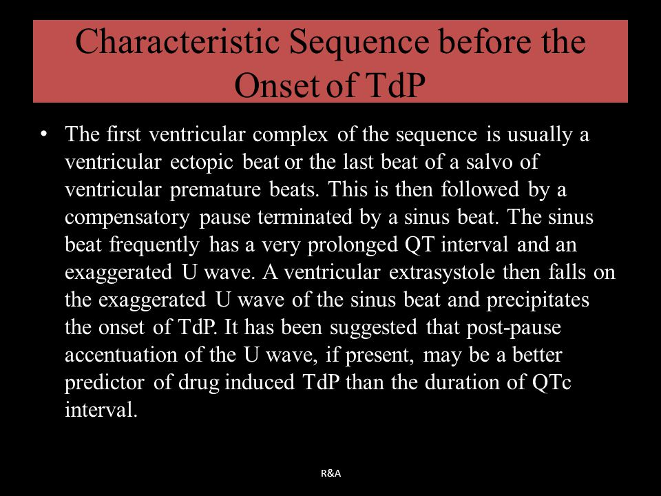 Characteristic Sequence before the Onset of TdP